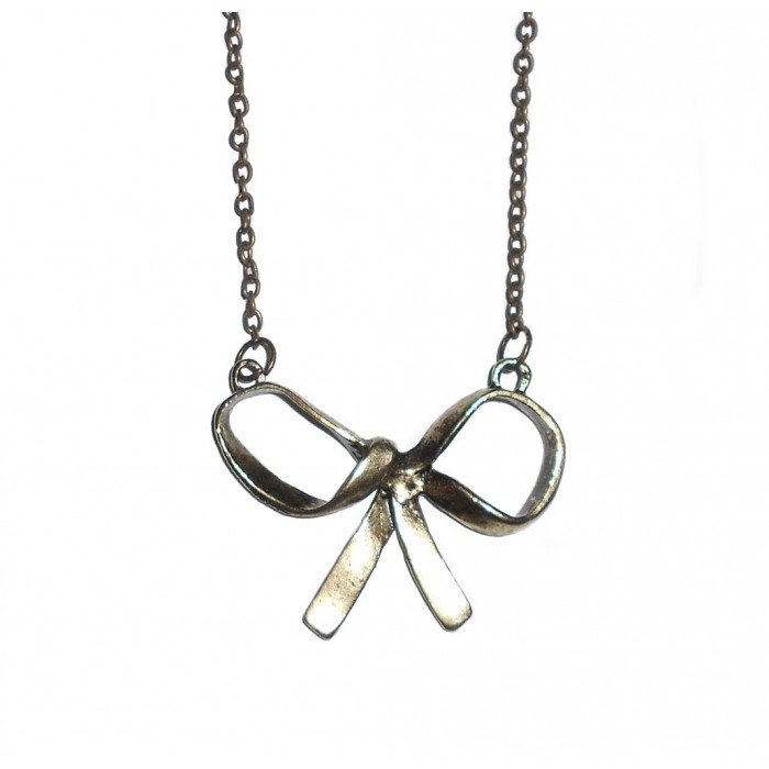 Collier noeud papillon vintage