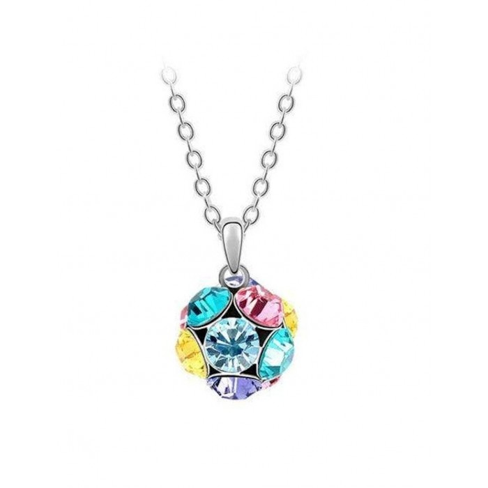 Collier boule strass multicolore