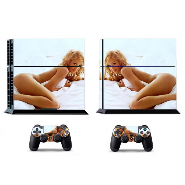 Sticker skin autocollant console PlayStation 4 femme sexy