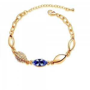 Bracelet goutte cristaux swarovski elements plaqué or